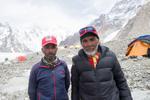 Elfi and Son at Broad Peak BC