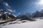 Looking back for a last glimpse of K2 on our descent.