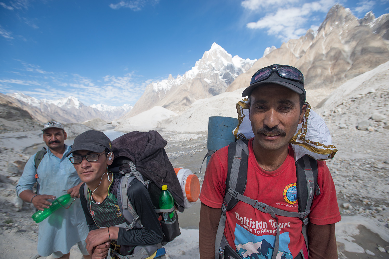 On the Baltoro below HobutseBaltistan Tours was founded concurrently with The Karakoram Experience. Mohammed Iqbal from Khaplu was the instigator, and today it is capably run by his son Zafar. I owe them all a huge debt of thanks for thirty years of friendship and service. Masha'Allah!