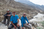 Watching proceedings at a washout on the Skardu road