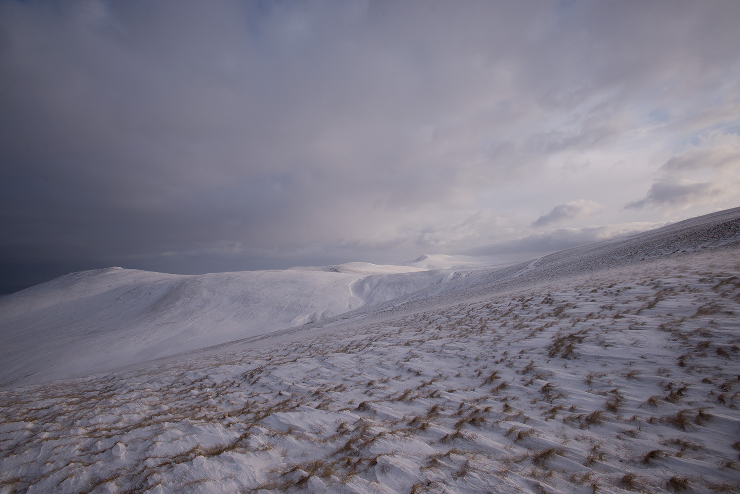 Carrock Fell in winter, Cumbria