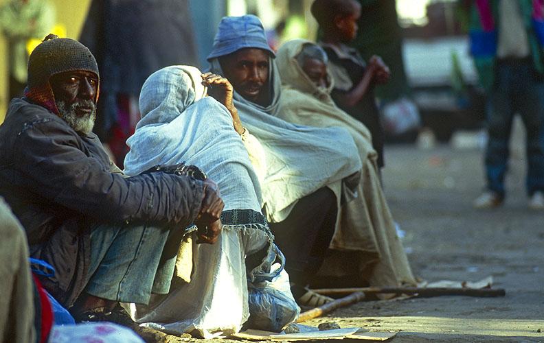 Beggars outside the Raguel orthodox churchNikon F5, 180mm, Fuji Velvia 100