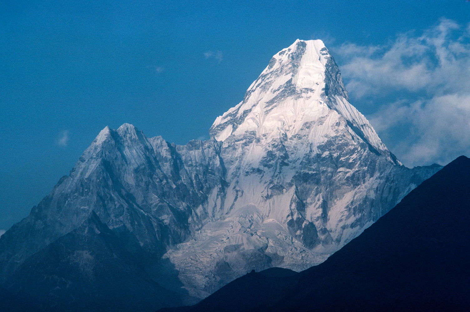 Arguably the most beautiful peak in the Khumbu, seen from Thyangboche.Canon A1, 135mm, Kodachrome 64