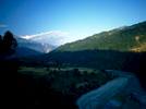 The Arun River near Tumlingtar.Early mornings at these low elevations are deliciously cool, and this picture captures for me the joys of striding out along the trail before the ferocious heat of the sun turns the valley into a saunaBronica ETRSi, 50mm, Fuji Velvia