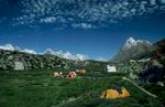Camp on the Biafo glacier en route to the Hispar Pass / Snow Lake