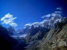 Seen from a small summit above Baintha camp, with the Uzun Brakk glacier below