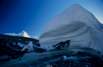 A massive ice-hummock, with Masherbrum beyond