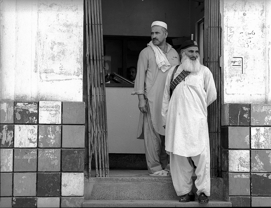 Bank Security Guards, Saidu Sharif, Swat, NWFP
