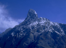 A relatively minor but spectacular peak that overlooks the snout of the Biafo glacier just above the village of Askole