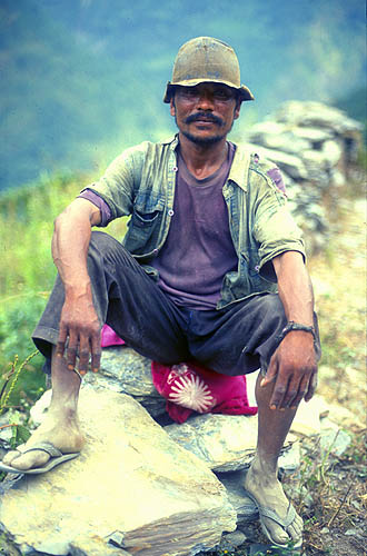 In the Myagdi Kola valley, south of DhaulagiriNikon FM2, 50mm, Fuji Velvia