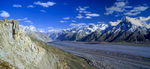 This is a stitch of two medium format images taken from the slopes high above Baintha. Pure Karakoram magic!