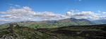 A panorama from the summit of Binsey. Bassenthwaite Lake at the far right.