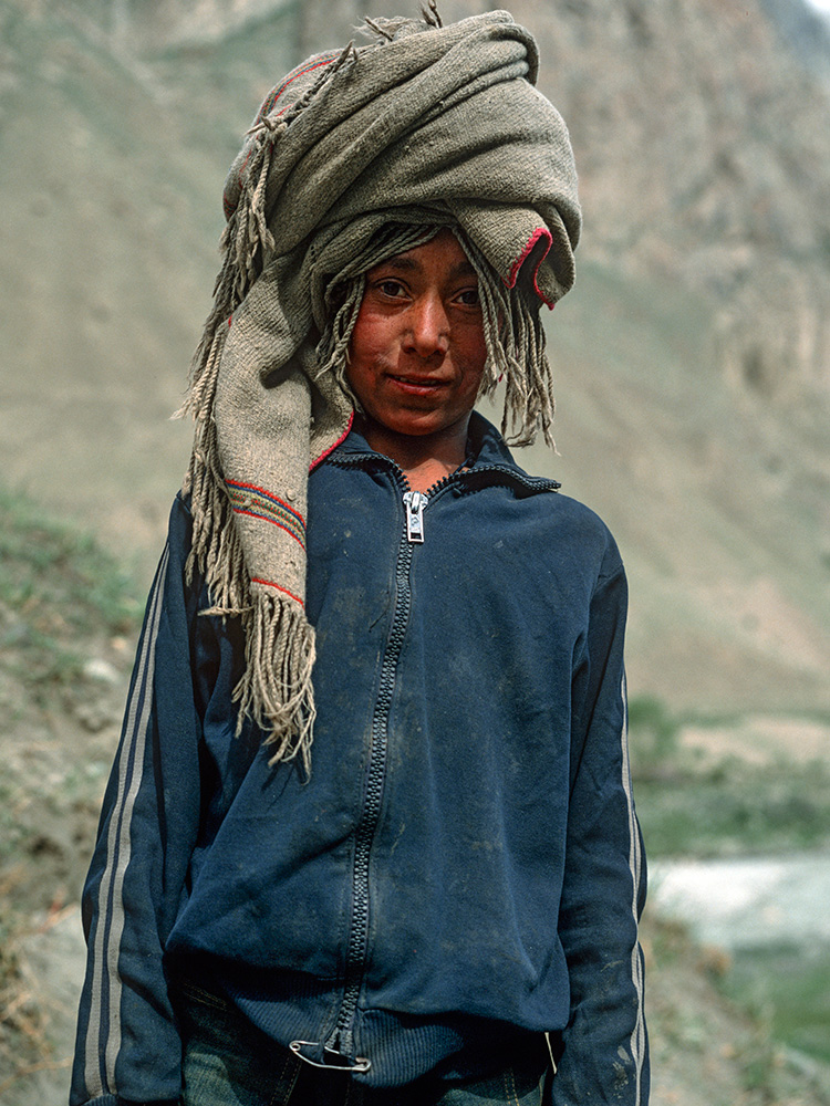 Portrait of a village boy