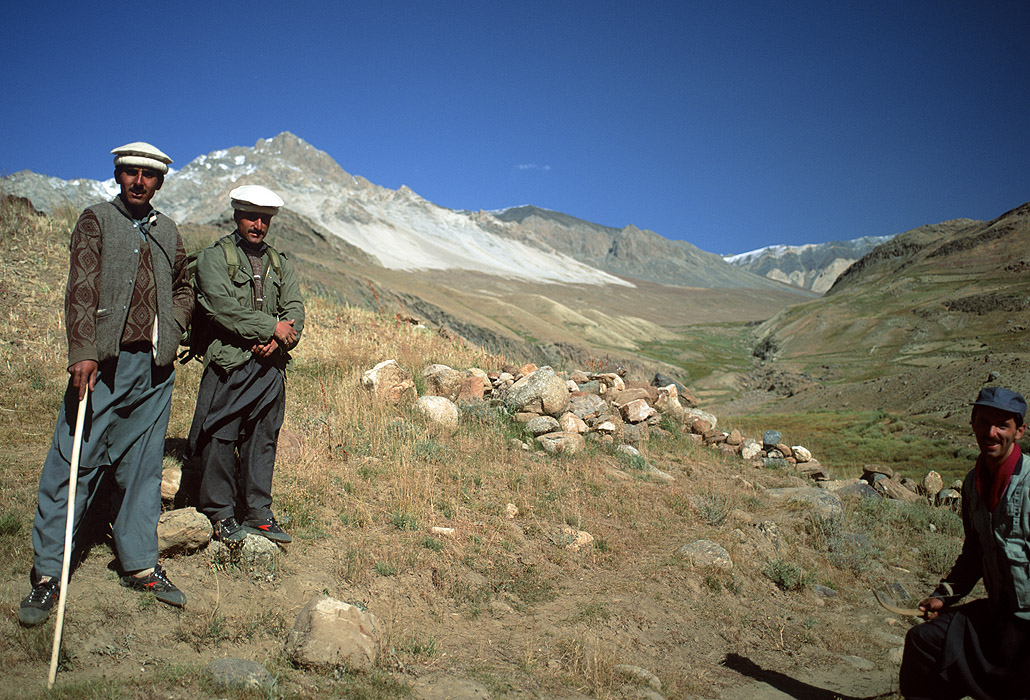Officers of the Chitral Scouts on the Pakistan side of this legendary crossing into the Wakhan or Ab-i-Panj in AfghanistanBronica ETRSi, 50mm, Fuji Velvia