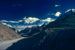 A view south into the Braldu from below the Shimshal Pass. This valley leads to the Lukpe LaCanon A1, 28mm