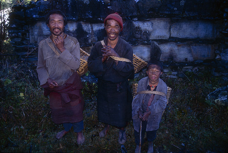 These people are from the village of Bih in the Buri Gandaki.Canon EOS 500, 28mm, Fuji Velvia