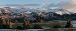 In winter. The Dodds & Helvellyn beyond