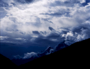 Storm clouds clearing in the upper Chapursan valley at BualtarBronica ETRSi, Fuji RDP2