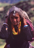 A Khasa Chhetri girl carrying her family's picnic hamper up to Raling for the festival.Bronica ETRS, 75mm, Fuji Velvia