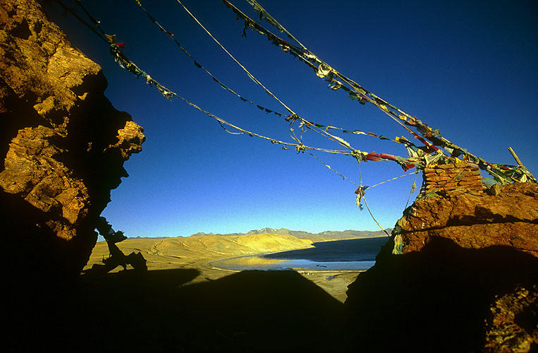 With Lake Manasarovar in the background.Ngari, Western Tibet.Nikon FM2, 17-35mm, Fuji Velvia
