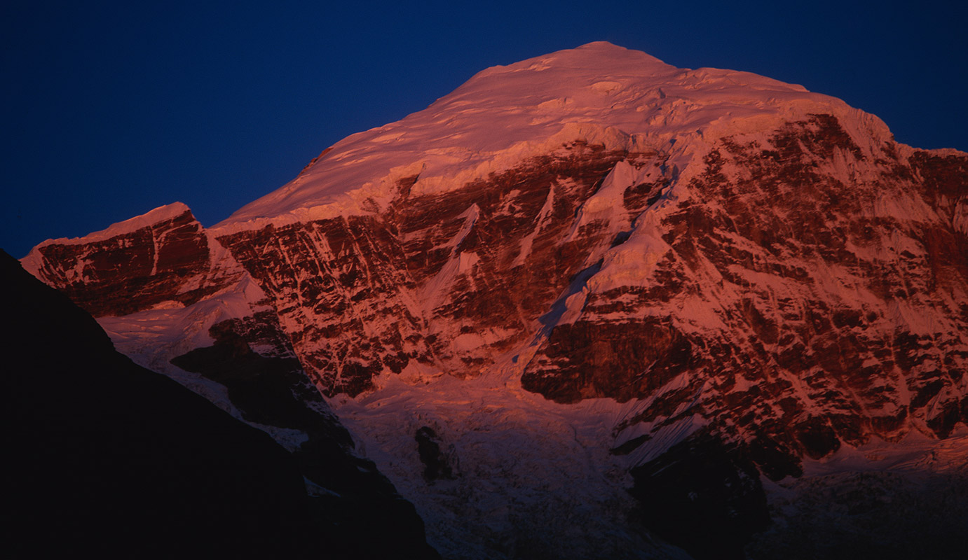 At sunrise, from Jangothang Camp, BhutanBronica ETRSi, 150mm, Fuji Velvia