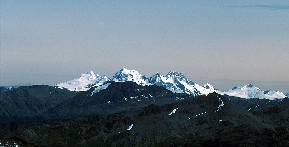 Left to right; Montes Francis (2150m), Bove (2300m) & Roncagli (2300m), from Cerro Falso TonelliNikon FM2, 105mm, Fuji Velvia