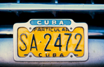 Car registration plate, havana