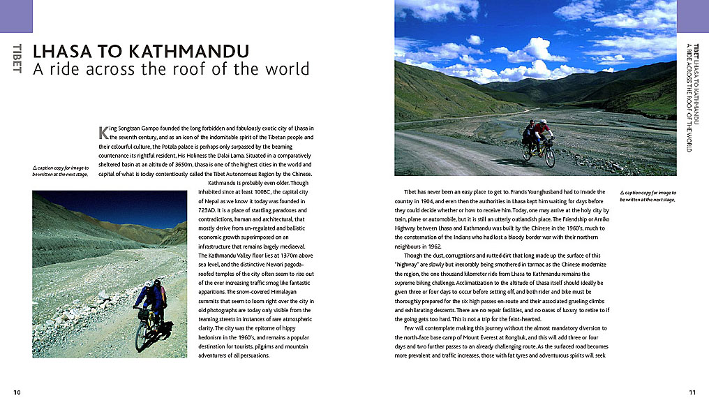 A dummy chapter for the forthcoming title {quote}Great Cycle Journeys of the World{quote}
