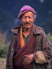 A man at this village north of Punakha in the Mo Chhu valleyBronica ETRSi, 75mm, Fuji Velvia