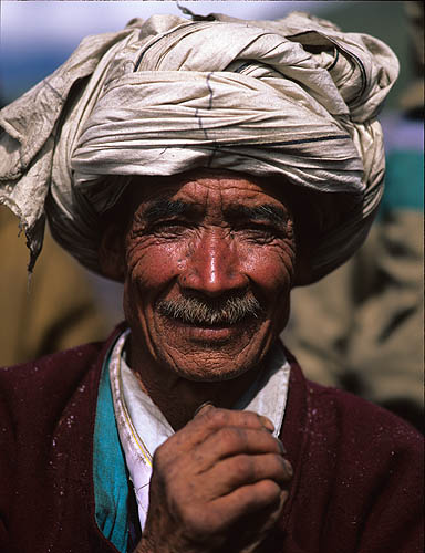 A Humla village shaman at Ralling Gompah during the Jeth Purni festivalBronica ETRSi, 150mm, Fuji Velvia