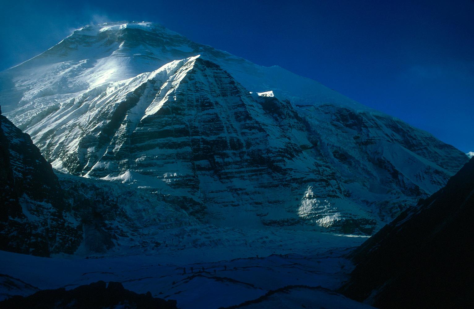 From just above base-camp on the Chhonbardan glacier.Nikon FM2, 24mm, Fuji Velvia