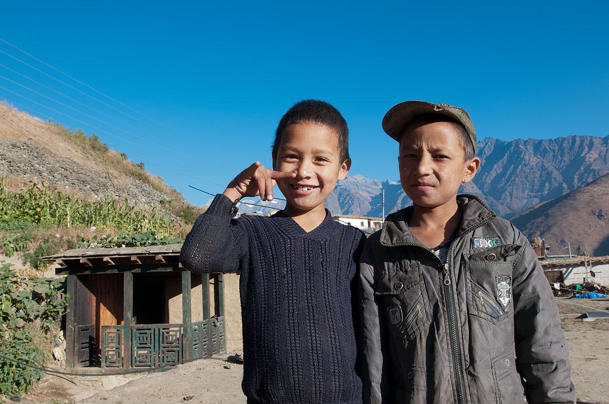 Kids at Juphal