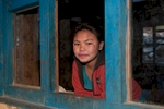 Girl at this school in the Suli Gaad valley, which is partly financed by Tapriza Projects, Switzerland, and by the Friends of Dolpo in the USA