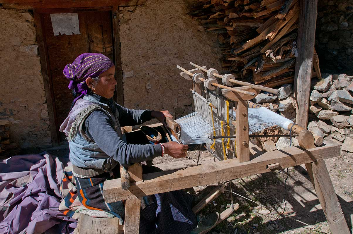 Weaving at Ringmo village