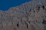 Telephoto of rock formations above Ringmo village