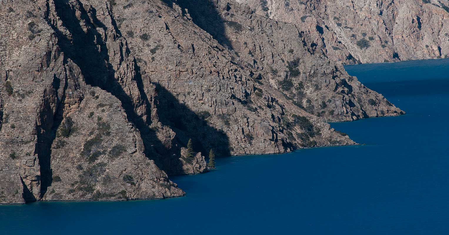 Telephoto of the western shoreline