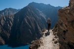 Trekking above Phoksundo Tal en route from Ringmo to Shey Gompah