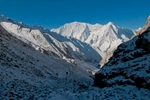 From just below the Kang La (5360m)