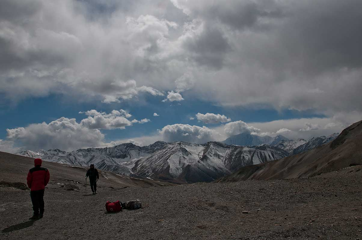 View from the crest of the Shey La (5000m) - between Shay and Saldang, Inner Dolpo, Nepal