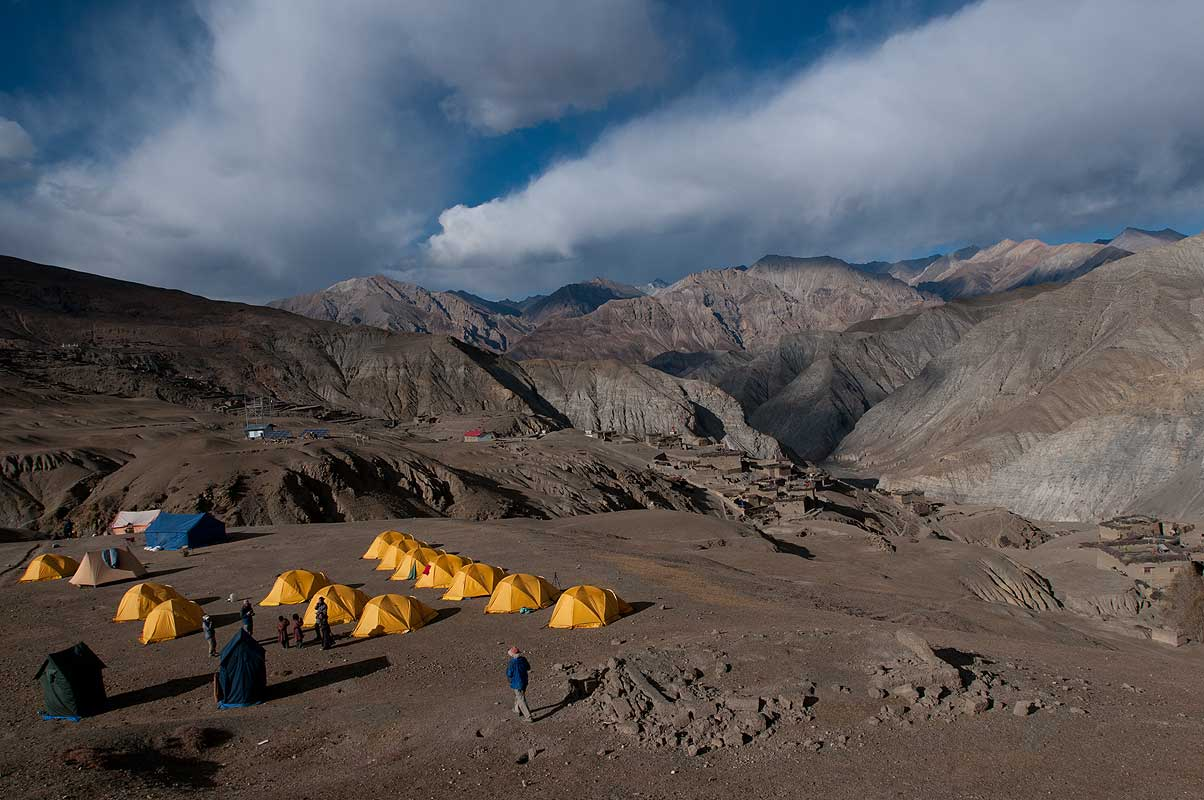 Camp at Saldang, Dolpo