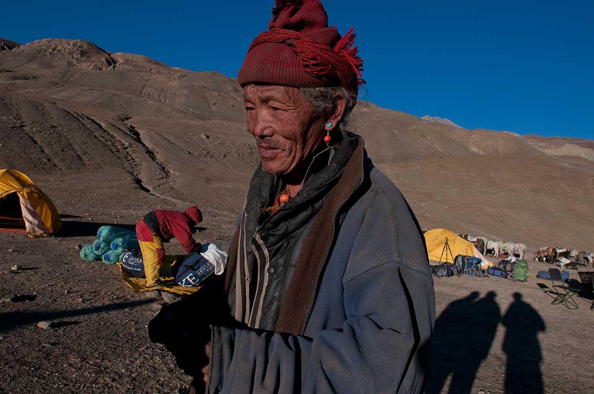 An old man of Saldang visiting our camp