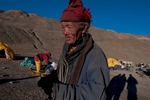 An old man of Saldang visiting our camp