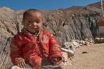 Young boy at this village, south of Saldang