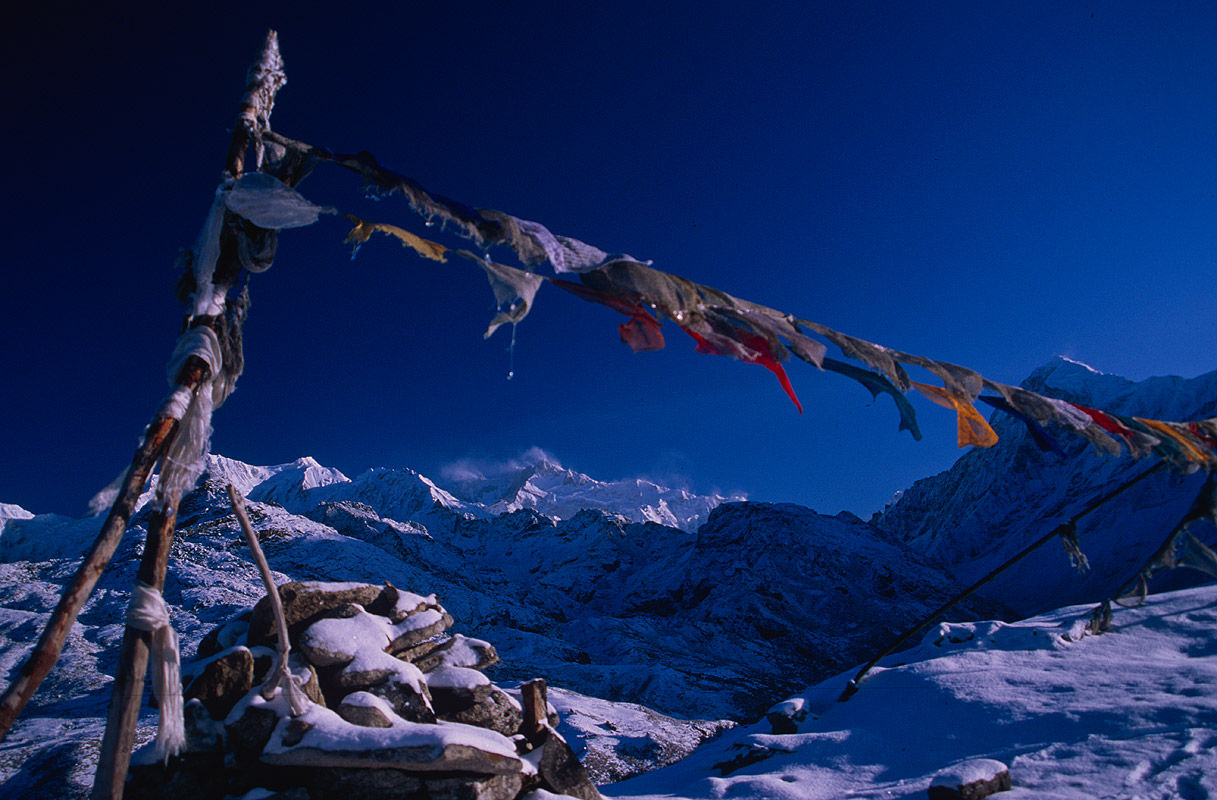 Seen from atop a ridge above Dzongri, Sikkim, IndiaNikon FM2, 24mm, Fuji Velvia