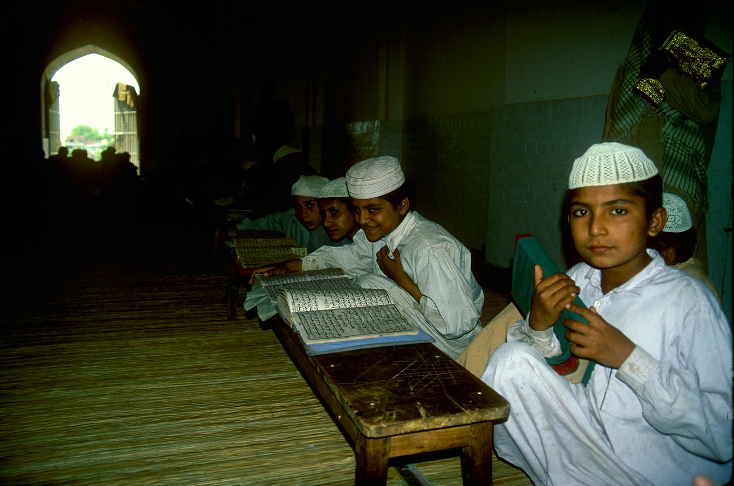 Young boys at the Koranic school in the Eid Gah masjid, MultanCanon EOS 500, 28mm, Fuji Velvia