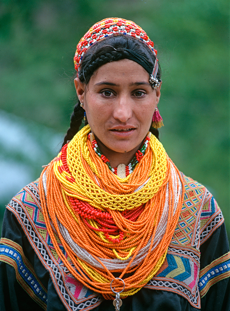 At the village of Rumbur in the Kalash valleys, Chitral. Her sister is called Atlas Bibi. Bronica ETRSi, Fuji Velvia