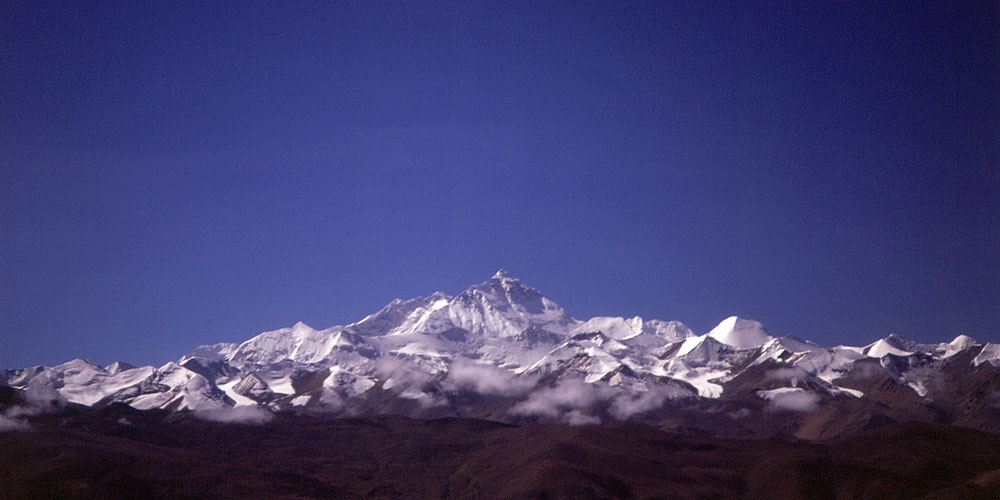 Chomolungma to the Tibetans, the north face is seen here from the Pang La.Nikon FM2, 24mm, Fuji Velvia