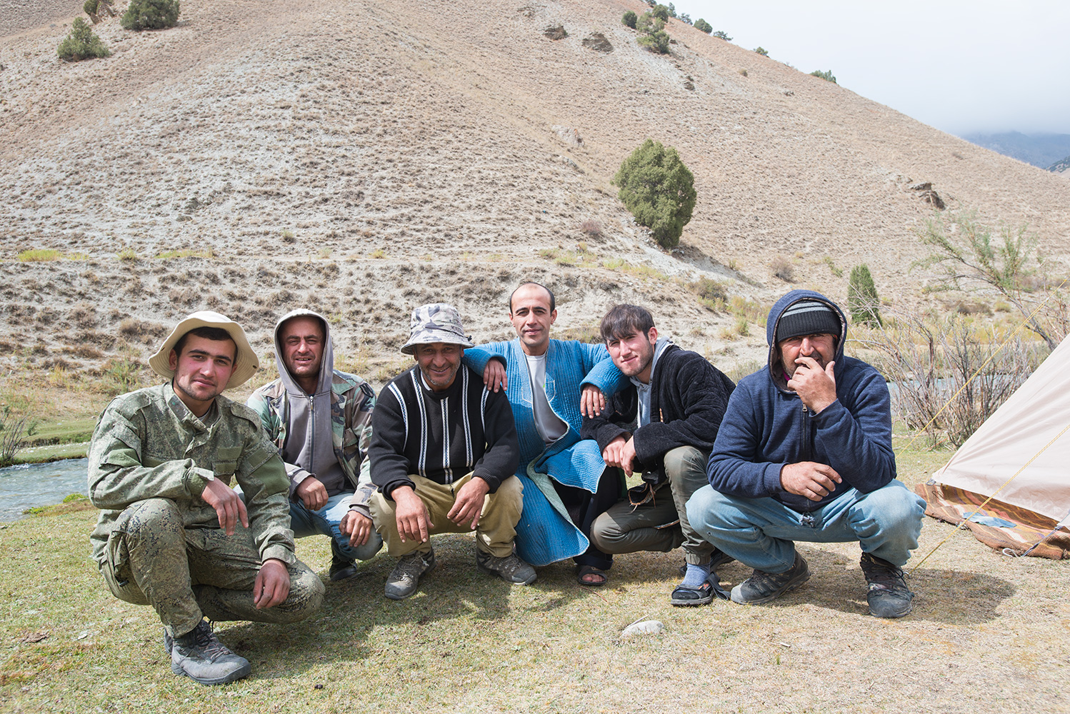 Our Tajik crew at the end of the trek