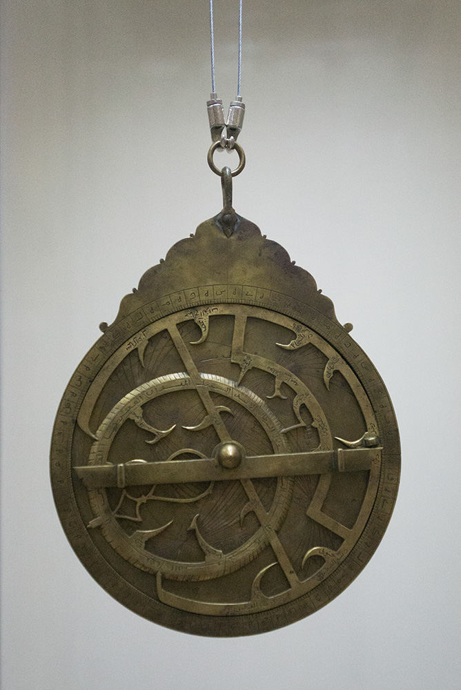 In the Observatory Museum, SamarkandThe word astrolabe means {quote}the one that catches the heavenly bodies{quote}.