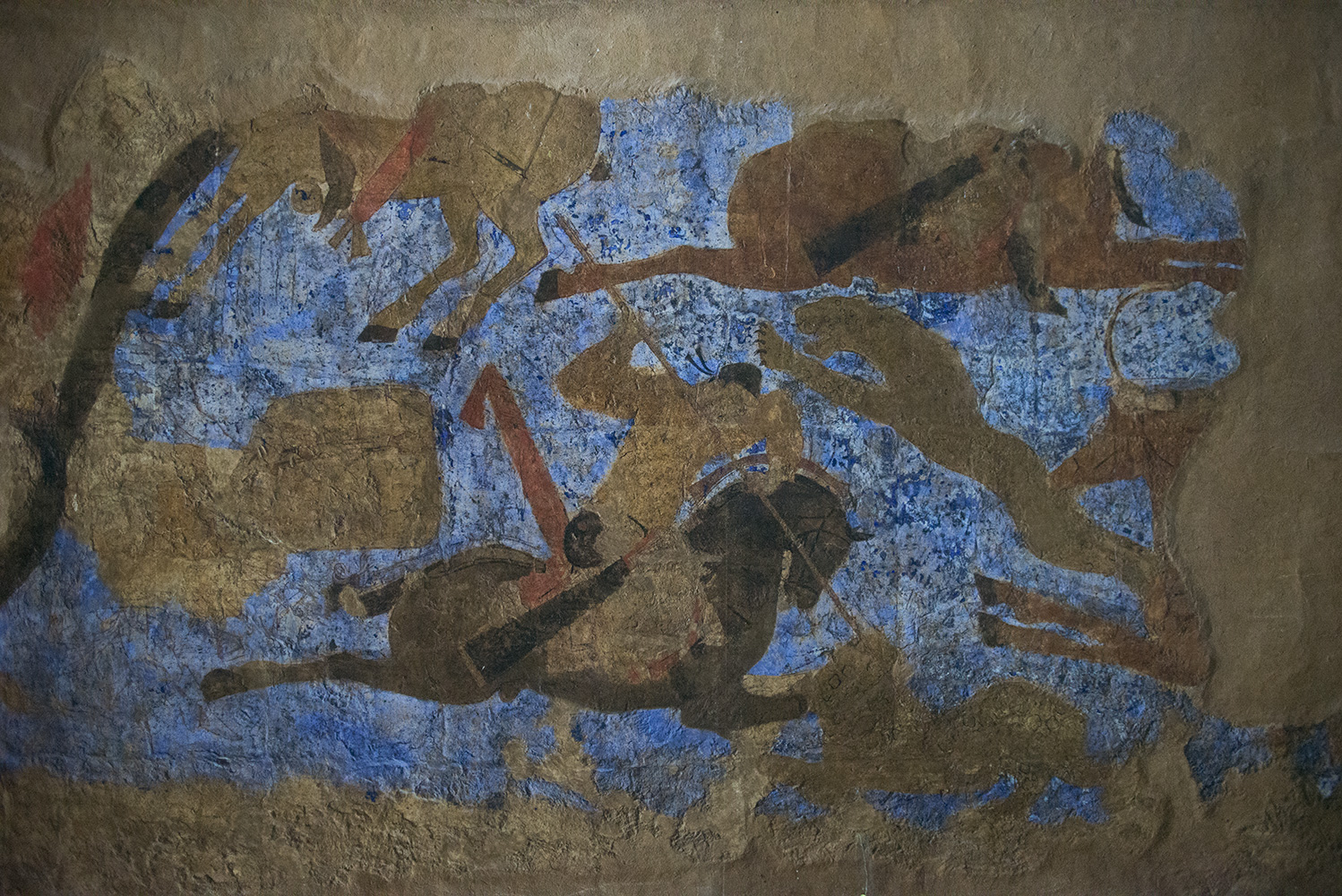 Though this museum is a little tired and lacking luster, there are a few really amazing exhibits. This is one. It is a uniquely preserved frescoe from a palace in Samarkand dating to the Ikhshid Dynasty of the 7th-8th centuries.